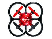 WonderTech Firefly RC 6-Axis Gyro Remote Control Quadcopter Flying Drone with LED Lights, Red