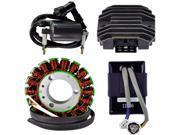 Kit Stator CDI Box Voltage Regulator Rectifier External Ignition Coil For Kawasaki KLF 300 Bayou 1989 1998