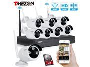 TMEZON Better Than 720P 8CH 960P HD WI FI NVR Security Wireless Network System With 1.3MP Night Vision IP Surveillance Camera Kit CCTV Security System Smartphon