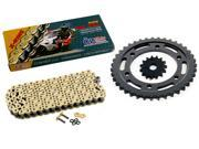 1996 Kawasaki Ninja 600R ZX600 CZ SDZ Gold X Ring Chain Sprocket 15 39 110L