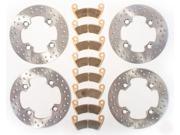 2012 2013 Polaris RZR XP 4 900 Front & Rear Brake Rotors & Brake Pads