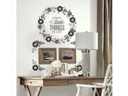 Roommates Floral Wreath Quote with Embellishments Peel and Stick Giant Wall Decals 9SIAB8E5UR1361