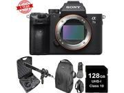 Sony Alpha a7 III Mirrorless Digital Camera (Body Only) W/ Microphone Kit Bundle