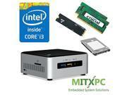 Intel Core i3 6100U NUC Mini PC w 32GB DDR4 512GB M.2 SSD 1 TB 2.5 HDD NUC6i3SYH