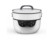 TATUNG Fusion Cooker Grill Pan and Waterless Pot - 4 Cooking Modes, Cook, Grill, Soup, Bake and Waterless Cook