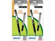 4 Zebra F-301 Compact Ballpoint Pens (2 Packs of 2), Black 9SIV19771E8536