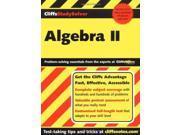 Algebra II (Cliffs Study Solver)
