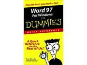 Word 97 for Windows for Dummies Quick Reference