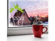 Dnven DIY I love You Potted Green Plants Sunny Day Sun Clouds Removable Wall Stickers for Kids Room Living Room Window Showcase Decals Self Adhesive Vinyl Wall