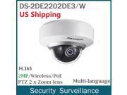 US STOCK HIKVISION DS-2DE2202-DE3/W PTZ 2MP HD Wireless POE Network Security CCTV IP Camera 2X 3-6MM