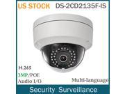 US STOCK HIKVISION DS-2CD2135F-IS 3MP HD POE Mini Dome Outdoor Security Network IP Camera 2.8mm