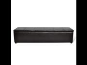 Brown Storage Bench Large Size 9SIABG75FA5207