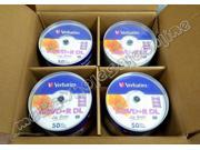 200 VERBATIM 8X Blank DVD R DL Dual Double Layer 8.5GB White Inkjet Printable 4 x 50PK CAKE BOX