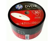New 50 HP Blank DVD R DVDR Recordable White Inkjet Printable 16X 4.7GB Media Disc