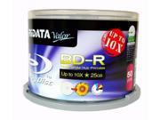 50 RIDATA Valor BluRay Up to 10X Blank BD R 25GB White Inkjet Hub Printable Disc