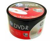 New HP Blank DVD R DVDR Branded LOGO 4.7GB 16X 100pcs Media Disc 2x50pk Shrink Wrap