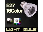 New E27 3W LED RGB Magic Bulb 16-Color Changing Spotlight Lamp w/ Remote Control 9SIV0XD5C73612