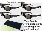 4 Pairs New XPG201 THEATER PASSIVE 3D GLASSES for Passive type 3D TV free-ship 9SIABG95C85391
