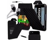 iTronixs BLU Studio X8 HD 5 inch PU Leather Slide Up Down Spring Pocket Top Flip Folio Phone Case Cover With Earphone Carbon Black