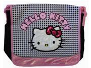 Hello Kitty Large Cloth Messenger Backpack Laptop Bag Sling - Blk Wht 9SIABHU58N6997