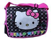 Hello Kitty Large Cloth Messenger Backpack Laptop Bag Sling - Blk Sparkle 9SIABHU58N7466