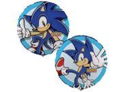 "Sonic The Hedgehog 18"""" Round Metallic Mylar Balloon [ One Balloon ]"" 9SIABHU58N7288"