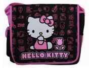 Hello Kitty Large Cloth Messenger Backpack Laptop Bag Sling - Pink Tulip 9SIABHU58N7006
