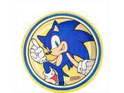 Sonic The Hedgehog 7 Inch Party Cake Plates Party Birthday Dessert 9SIABHU58N7167