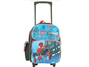 Spider Man 2 Small Toddler  Rolling Backpack - Blue/Black 9SIABHU58N7143