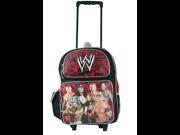 "WWE John Cena, Rey Mysterio  Large 16"""" Rolling Backpack Bag Red"" 9SIABHU58Z7585"