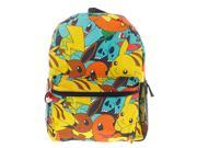 Pokemon 16 Inch Large Backpack -Pikachu, Squirtle, Bulbasaur, Charmander, Eevee 9SIABHU58Z7619