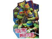 Teenage Mutant Ninja Turtles Pack of 8 Invitations 9SIABHU5905305