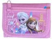 Frozen Ice Princess Anna Elsa Plastic Tri-Fold Wallet - Pink 9SIABHU5905362