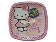 Hello Kitty Small 7 Inch Party Cake Dessert Plates - Pink Pocket Plates 9SIABHU5905615