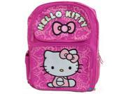 "Hello Kitty Large 16"""" Cloth Backpack Book Bag Pack - Pink Faces"" 9SIABHU5905643"
