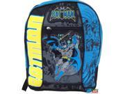 "Batman Large 16"""" Cloth Backpack Book Bag Pack - Black/Blue/Yellow"" 9SIABHU5A33613"