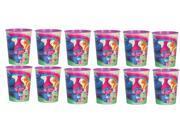 12X Trolls Plastic 16 Ounce Reusable Keepsake Favor Cup 12 Cups