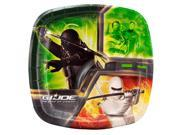 "G I Joe Small 7"""" Pocket Compartment Cake Dessert Plates"" 9SIABHU5905430"