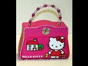 Hello Kitty Satchel Carry All Tin Purse with Beaded Handle - House (9SIABHU5A33669 CB4322) photo