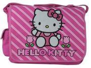 Hello Kitty Large Messenger Sling Laptop Book Bag Pack - Stripes 9SIABHU58N7211