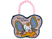 Hello Kitty Butterfly Shape Carry All Tin Purse - Purple 9SIABHU58N7045