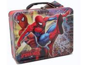 Spiderman Square Carry All Tin Stationery Lunchbox Lunch Box - Red 9SIABHU75G0042