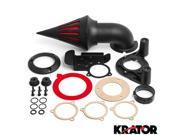Krator® Black Spike Air Cleaner Intake Filter For 2008-2012 Harley Davidson Dyna Touring 9SIABK74VF8458