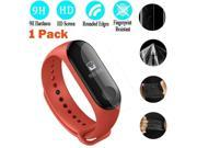 1PC Tempered Screen Full Cover Screen Protector Film For Xiaomi Mi Band 3 wearable devices smartwatch relogios reloj inteligente