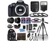 Canon EOS Rebel T6 SLR Camera + 18-55mm IS Lens + 30 Piece Accessory Bundle 9SIABKX69W2762