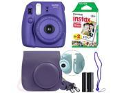 Fujifilm Instax Mini 8 Instant Film Camera Kit (Grape)