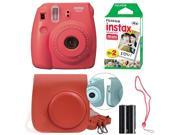 Fujifilm Instax Mini 8 Instant Film Camera Kit (Raspberry)