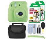 Fujifilm Instax Mini 9 Instant Film Camera Lime Green + 40 Film Accessory Kit