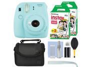 Fujifilm Instax Mini 9 Instant Film Camera Ice Blue + 40 Film Accessory Kit