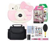 Fujifilm Instax Mini Hello Kitty Instant Film Camera Pink- 30 Film Accessory Kit